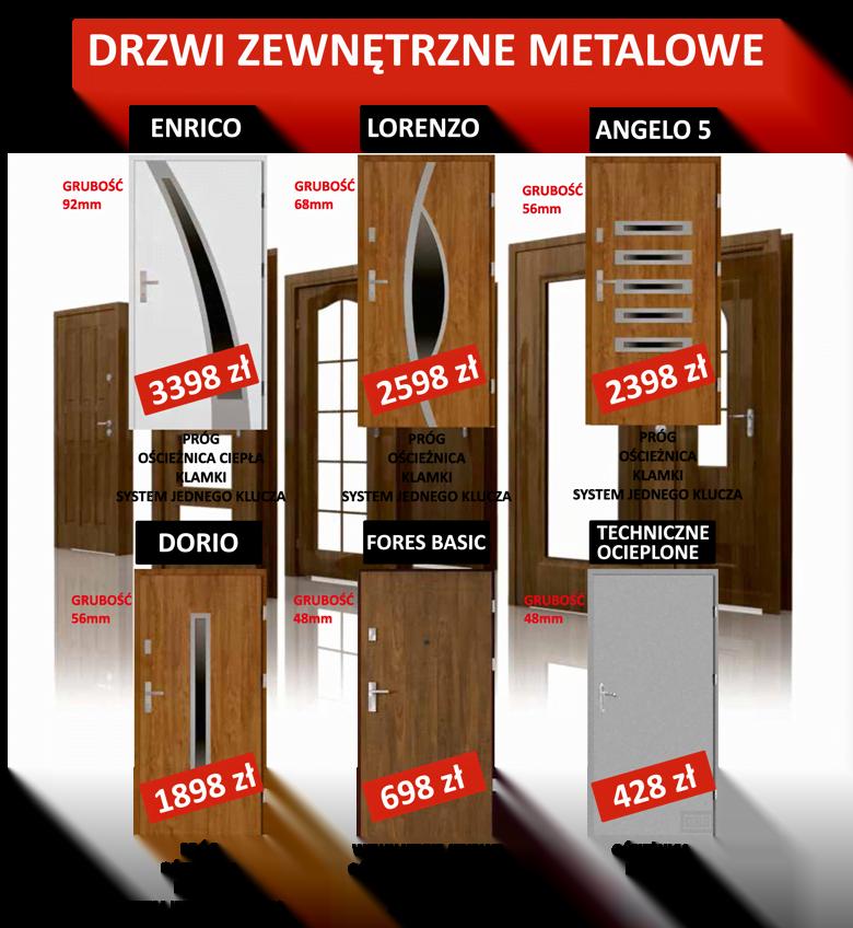 Promocyjne ceny na drzwi zewnętrzne metalowe Kunów koło Kielc