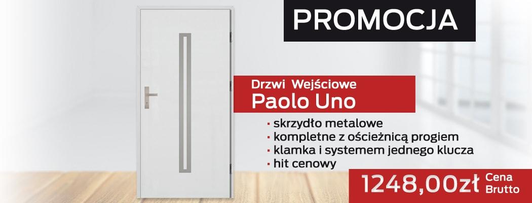 Drzwi Wejściowe Paolo Uno na promocji!