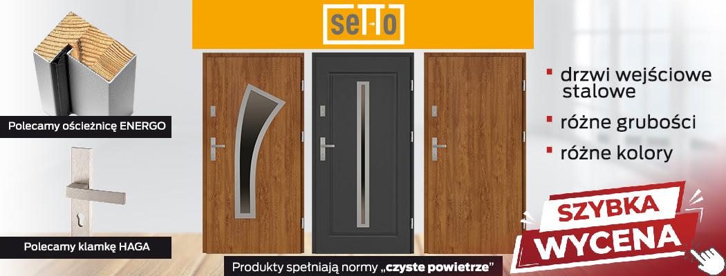 Drzwi wejściowe pełne  - skrzydło metalowe